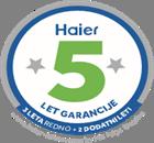 Znamka Haier ponuja 5 let garancije